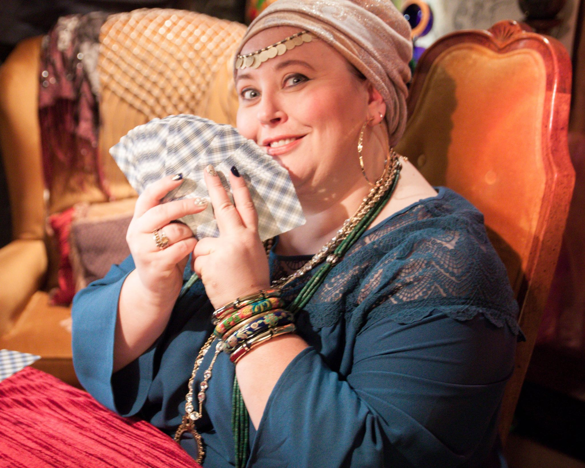 lady lillian actor with cards